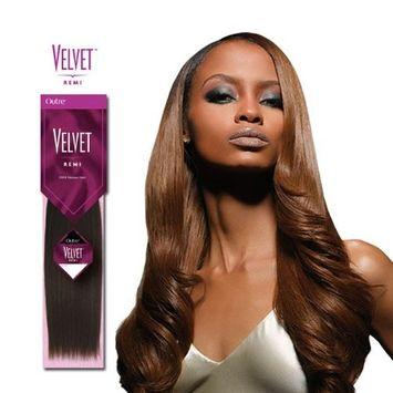Velvet Remi Human Hair Weave - Yaki Weaving (20 inch, 1B - Off Black)