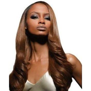 Velvet Remi Human Hair Weave - Yaki Weaving (14 inch, 4 - Light Brown)