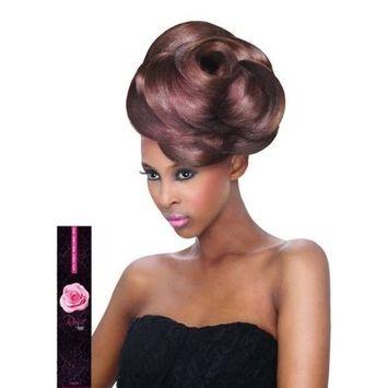 Outre Velvet Virgin Human Hair Weave REMI ROSE YAKI (10SHORT INCH, 1B - OFF BLACK)