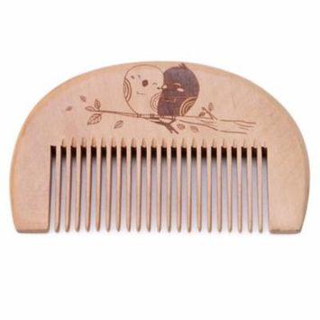 Kapmore Hair Comb Anti-static Natural Wooden Comb Beard Comb Hair Grooming Styling Tool for Women Men Boys Girls