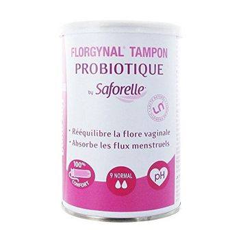 Saforelle Florgynal Probiotic Compact Applicator Tampon 9 Normal by Saforelle