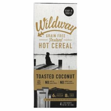 Wildway Hot Cereal - Toasted Coconut - Case of 4 - 7 oz.