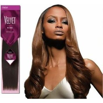 OUTRE Velvet Remi Remy Human Hair Weave - Yaki Yaky Weave (12 INCH, #C4/30)