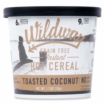 Wildway Grain-free Instant Hot Cereal Cups - Toasted Coconut (Gluten-free, Paleo, Keto, Non-GMO) 1.75oz, Pack of 6