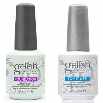 Gelish Dynamic Duo Soak Off Gel Nail Polish - Foundation Base and Top Sealer