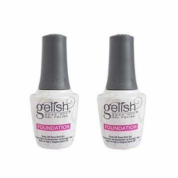 Gelish Harmony 0.5 Fluid Ounce Soak-Off Foundation Gel Nail Polish Base (2 Pack)