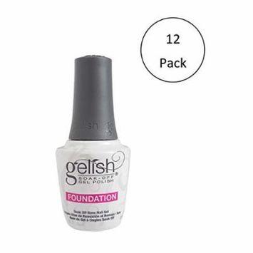 Gelish Harmony 0.5 Fluid Oz. Soak-Off Foundation Gel Nail Polish Base (12 Pack)