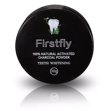 Tooth Whitener, FirstFly Teeth Whitening Powder Natural Organic Activated Charcoal Bamboo Toothpaste Whitens Stained Teeth