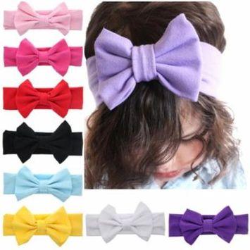 9Pcs Kids Girl Toddler Infant Flower Headband Hair Band Accessories Headwear