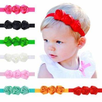 9 Pcs Colors Girl Headband Toddler Bow Hair Band Headwear Accessories