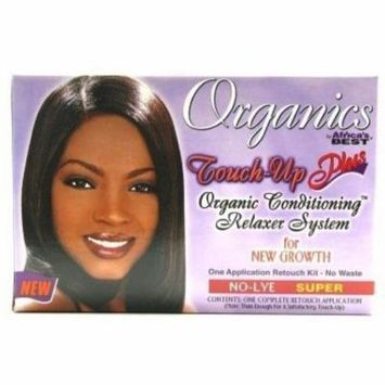 4 Pack - Africa's Best Organics Touch-Up Plus Moisturizing No-Lye Relaxer Kit Super 1 ea