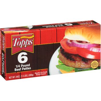 Topps 6 4 Pound Beef Patties