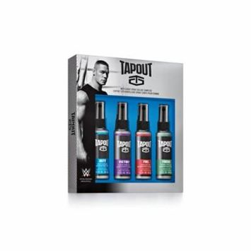 Tapout Fragrance Body Spray Collection 4 Piece Set for Men