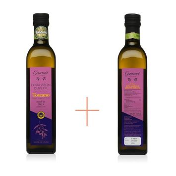 Extra Virgin Olive Oil from Italy Gift Pack - Two 500ml Bottles of first press cold extracted Italian EVOO Tuscan Blend