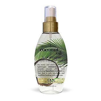 OGX Weightless Hydrating Oil Mist, Nourishing Coconut Oil, 4oz (Set of 2)