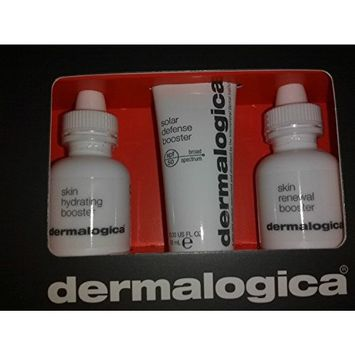 Dermalogica Skin Hydrating Booster 0.33oz Renewal Booster 0.33oz Solar Defense Booster Spf 50 0.33oz