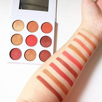 TOPBeauty Burgundy Color Palette 9 Color In 1 Cosmetics Makeup Powder Shimmer Matte Eyeshadow Eye Shadow Palette #2