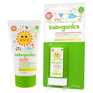 Babyganics Sunscreen Stick with Mineral-Based Tube