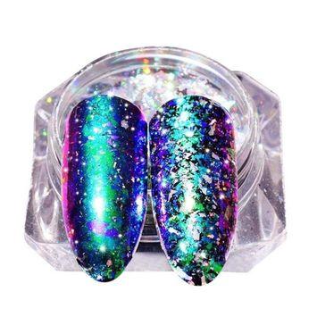 Women's Nail Sequins Powder, Iuhan Galary Flake Glitter Aluminum Flakes Galary Holo Powders Sequins Nail DIY