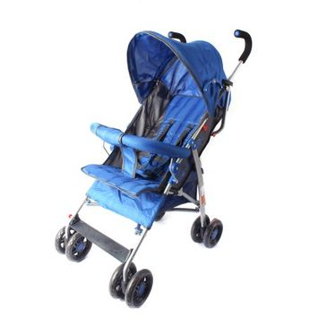 Wonder Buggy Dakota Baby Stroller With Bumper, Basket & Rounded Canopy - Royal Blue