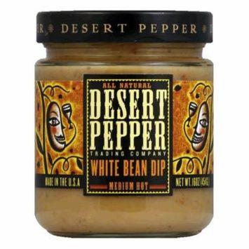 Desert Pepper White Bean Dip - Medium, 16 OZ (Pack of 6)