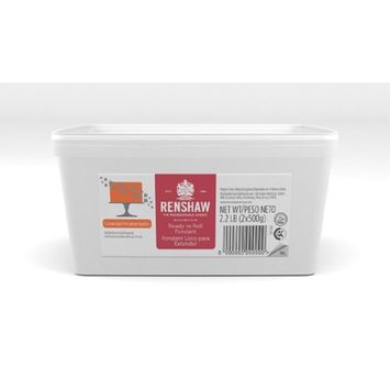 Ready To Roll Fondant Icing Orange 2.2lbs. for Cake Decorating by Renshaw Americas