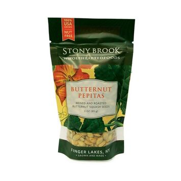 Stony Brook Butternut Pepitas, 3 ounce bags (case of 12)