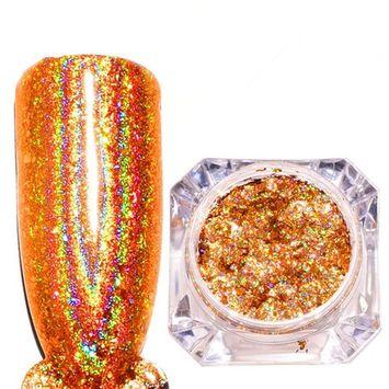 Women's Nail Powder, Iuhan Mirror Nail Polish Plating Gold Paste Metal Color Gel Stainless Steel DIY (G