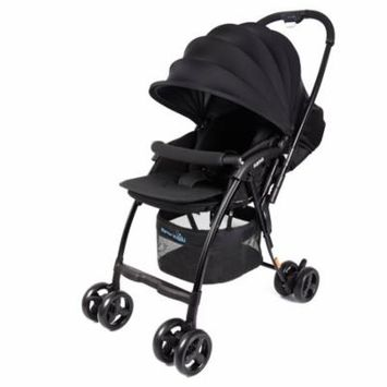 Wonderbuggy Nano Plus Ultralight Stroller With Reversible Handle And Foot Muff - Black