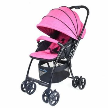 Wonderbuggy Nano Plus Ultralight Stroller With Reversible Handle And Foot Muff - Fuchsia Pink