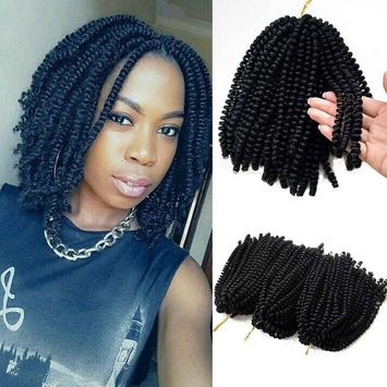 Flyteng spring twist hair for braids black 3 pack/lot Jamaican Bounce Crochet Hair Extensions Bohemian braiding hair