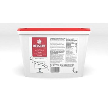 Ready To Roll Fondant Icing White 10lbs. for Cake Decorating by Renshaw Americas