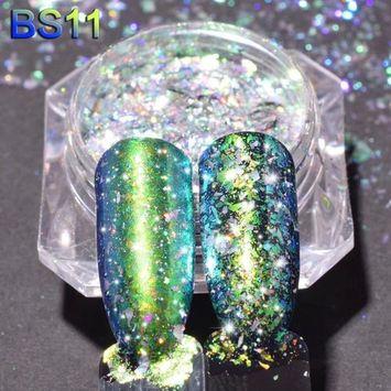 Women's Nail Mirror Effect Powders, Iuhan Mirror Glitter Aluminum Flakes Magic Mirror Effect Powders Sequins Nail DIY
