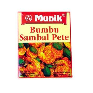 Munik Bumbu Sambal Petai Stir Fry Petai in Hot Sauce Seasoning