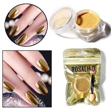 Women's Nail Art Mirror Powder, Iuhan Women Mirror Powder Effect Chrome Nails Pigment Gel Polish DIY (G