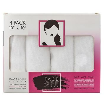 FACE OFF Cloth - Natural, Reusable Chemical Free Cleansing & Makeup Removal Cloth that works with just warm water!