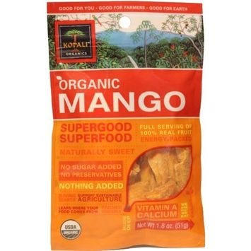 Kopali Organics Mango, 1.8-Ounce Pouches (Pack of 6)