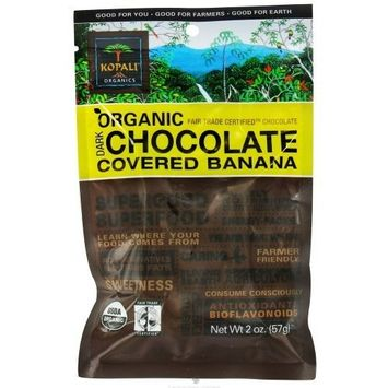 Kopali Organics Organic Chocolate Covered Banana 2 oz. (Pack of 12)