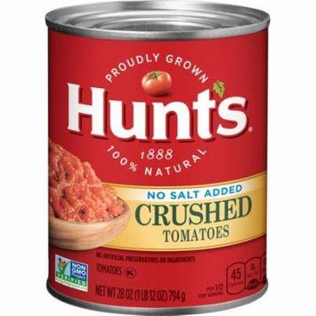 (6 Pack) Hunt's Crushed Tomatoes No Salt Added, 28 oz