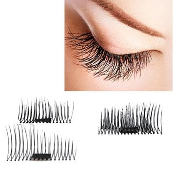 Eyelashes, Hatop NEW Ultra-thin 0.4mm Magnetic Eye Lashes 3D Mink Reusable False Magnet Eyelashes