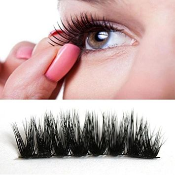 Eyelashes, Hatop 4pcs (1 Pair) Magnetic Eye Lashes 3D Reusable False Magnet Eyelashes