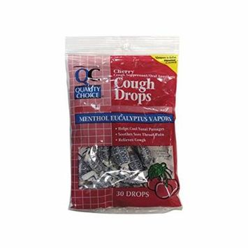 Quality Choice Cough Drops Cherry 30 Ct
