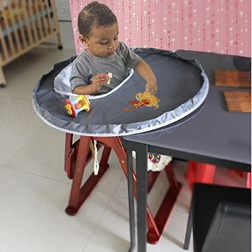 Fenleo Baby Feeding Saucer High Chair Cover 75x25CM, Waterproof Oxford Cloth Highchair Bumper Pad Place Mat
