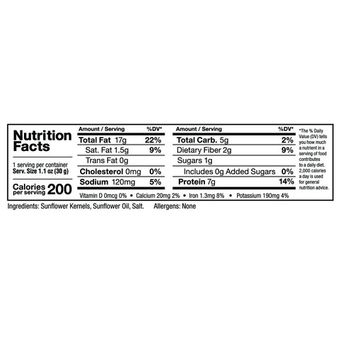 Zee Zees Sunflower Kernels, Roasted Salted, 1 oz, 48 pack [Roasted Salted]