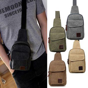 Girl12Queen Men Canvas Satchel Casual Cross Body Handbag Messenger Shoulder Bag