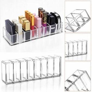 Girl12Queen Pressed Powder Blush Lipstick Holder Storage Case Cosmetic Makeup Organizer Box