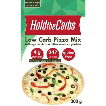 Low Carb Pizza Crust Mix, Very Low Calorie, Gluten Free, No Added Sugar, No Sweeteners, No Preservatives, Made in Canada - makes 4 large 12