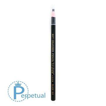 Waterproof Permanent Makeup & Microblading Wax Grease Pencils Eyebrow Lip Design (3 Pencils, Black)