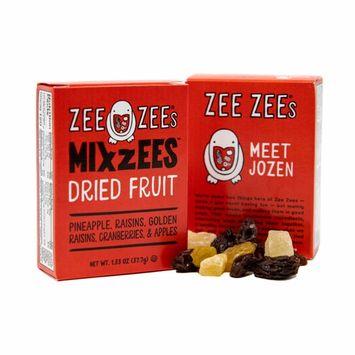Zee Zees Mixzees Dried Fruit- Pineapple, Raisins, Golden Raisins, Cranberries, Apples, 1.33 oz, 36 pack