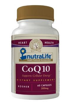 Nutralife - CoQ10 200 mg. - 60 Capsules